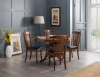 Julian Bowen Canterbury Circular Oval Extending Table 4 Chairs Dark Solid Wood