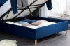 Birlea Loxley Ottoman Bed Frame 150cm Kingsize 5FT Navy Blue Fabric Storage