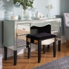 Birlea Palermo Mirrored 4 Drawer Dressing Table Bevelled Mirror Crystal Handle