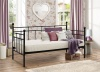 Birlea Lyon Single 3FT 3'0'' Metal Daybed No Trundle in Black