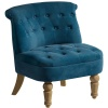 Birlea Grace Velvet Fabric Blue Sapphire Easy Accent Snuggle Arm Chair