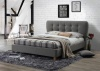 Birlea Stockholm Grey Fabric Upholstered Double Bed Frame 4FT6 135cm