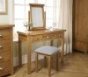 Birlea Woburn 3 Drawer Dressing Table Solid Oak Wood Traditional
