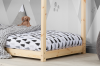 Birlea House Single Bed Frame 3FT 90cm Pine Solid Wood Canopy Kids Bed