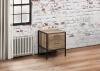 Birlea Urban Industrial Chic 2 Drawer Chest Bedside Cabinet Wood Metal