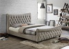 Birlea Copenhagen Bed Frame Upholstered Warm Stone Fabric King Size 5FT 150cm