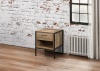 Birlea Urban Industrial Chic 1 Drawer Chest Bedside Cabinet Wood Metal