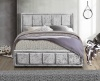 Hannover Ottoman Bed Frame 4FT 120cm Small Double Bedstead Storage Grey Velvet