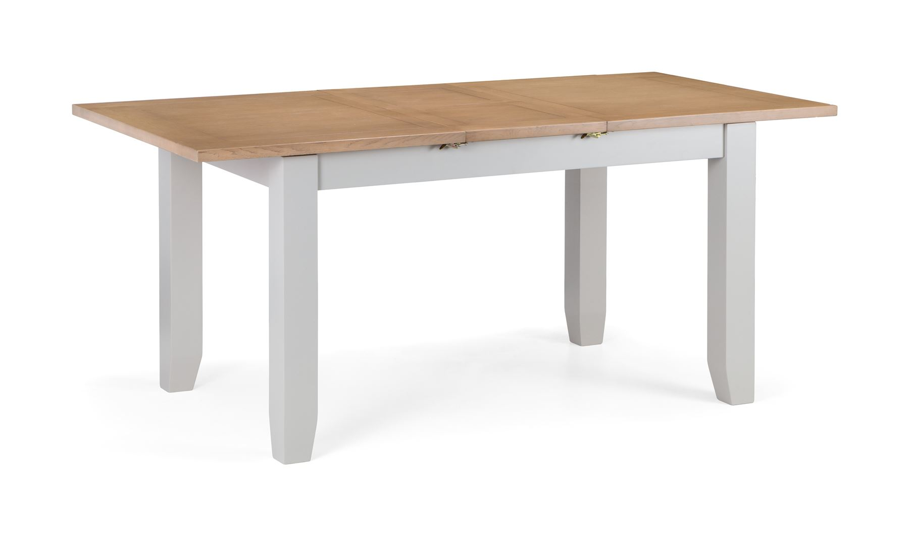 Julian Bowen Richmond Extending Dining Table Elephant Grey & Solid Oak & Veneer