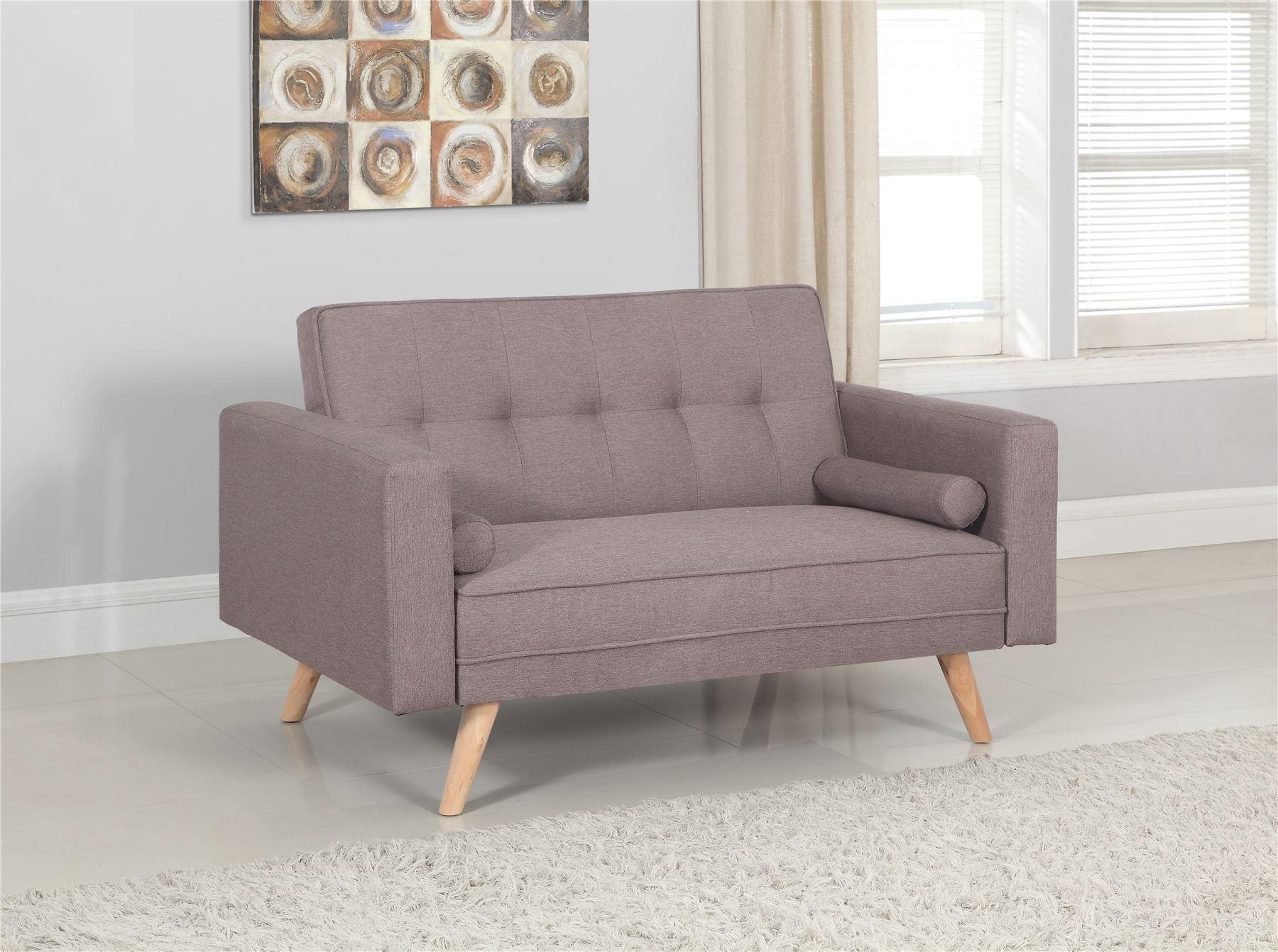 Birela Ethan Medium Sofa Bed 20 Seater Settee Grey Fabric Scandinavian Style