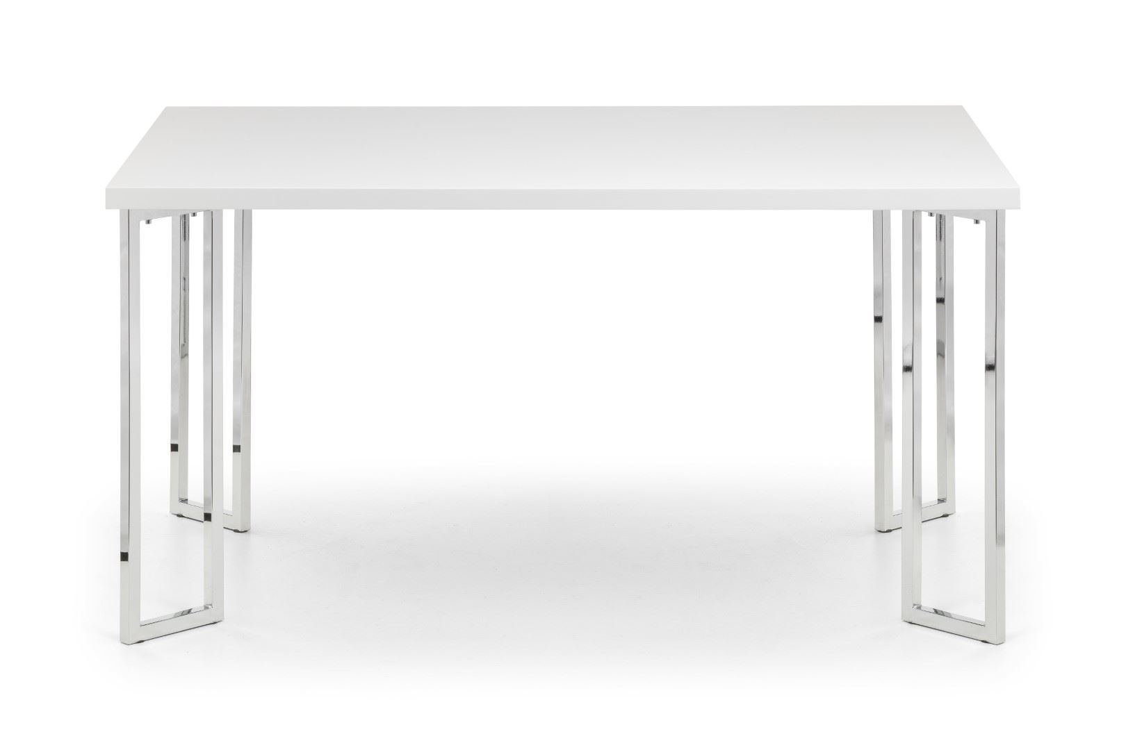 Julian Bowen Manhattan White High Gloss Dining Table (150cm x 90cm)