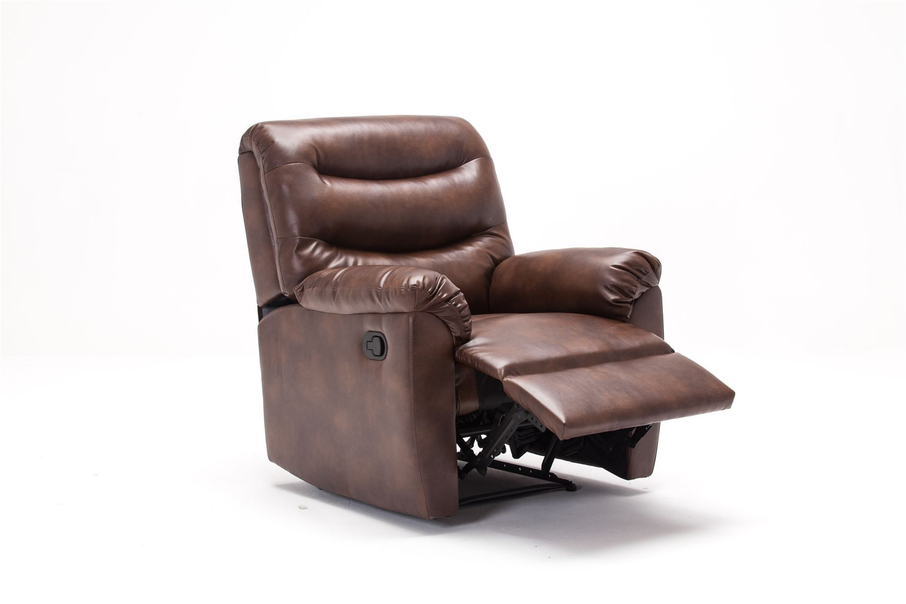 Birlea Regency Brown Bronze Faux Leather Manual Recliner Chair