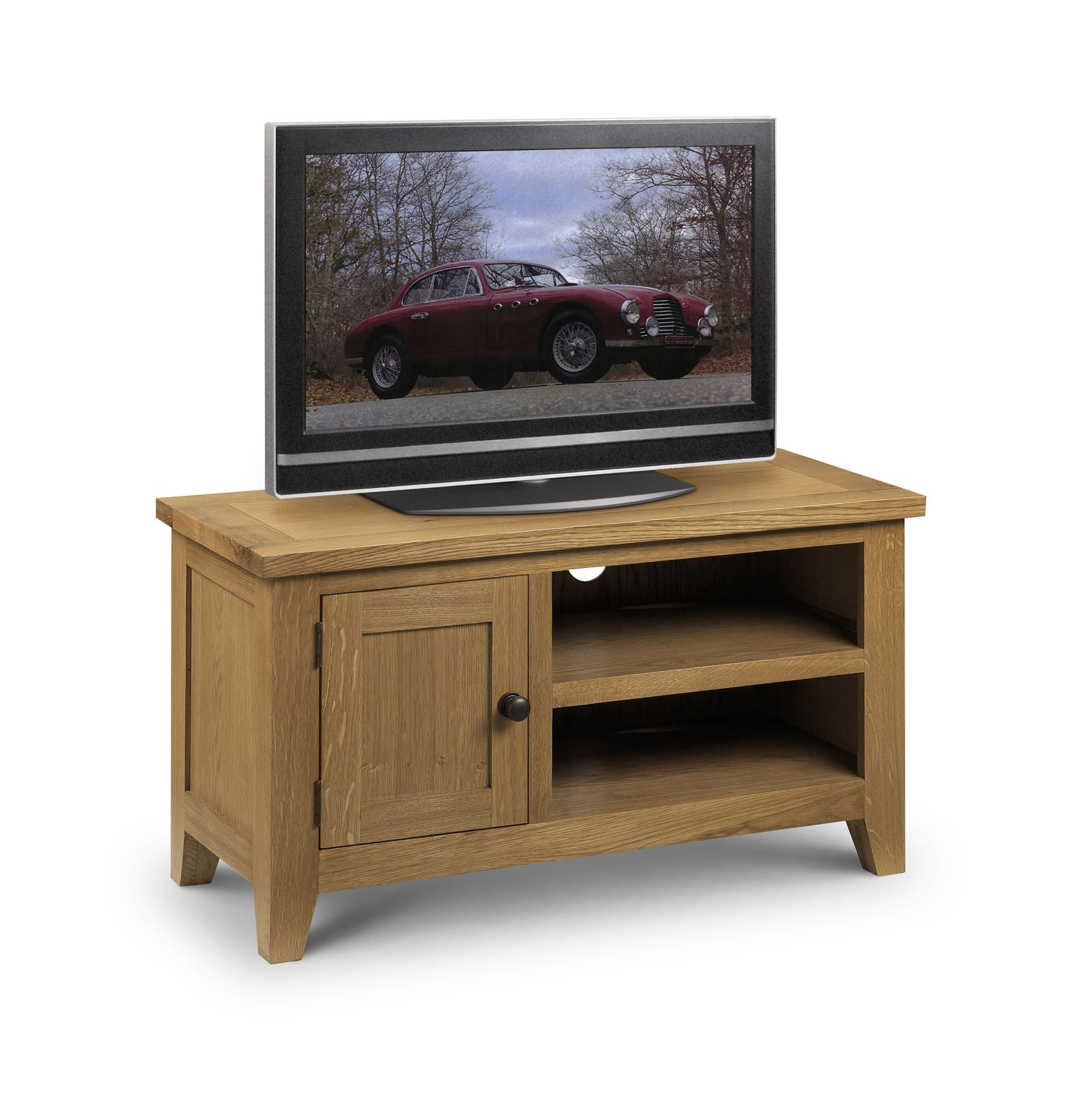 Julian Bowen Astoria American Oak TV Unit Stand Cabinet Cupboard & Shelf Solid