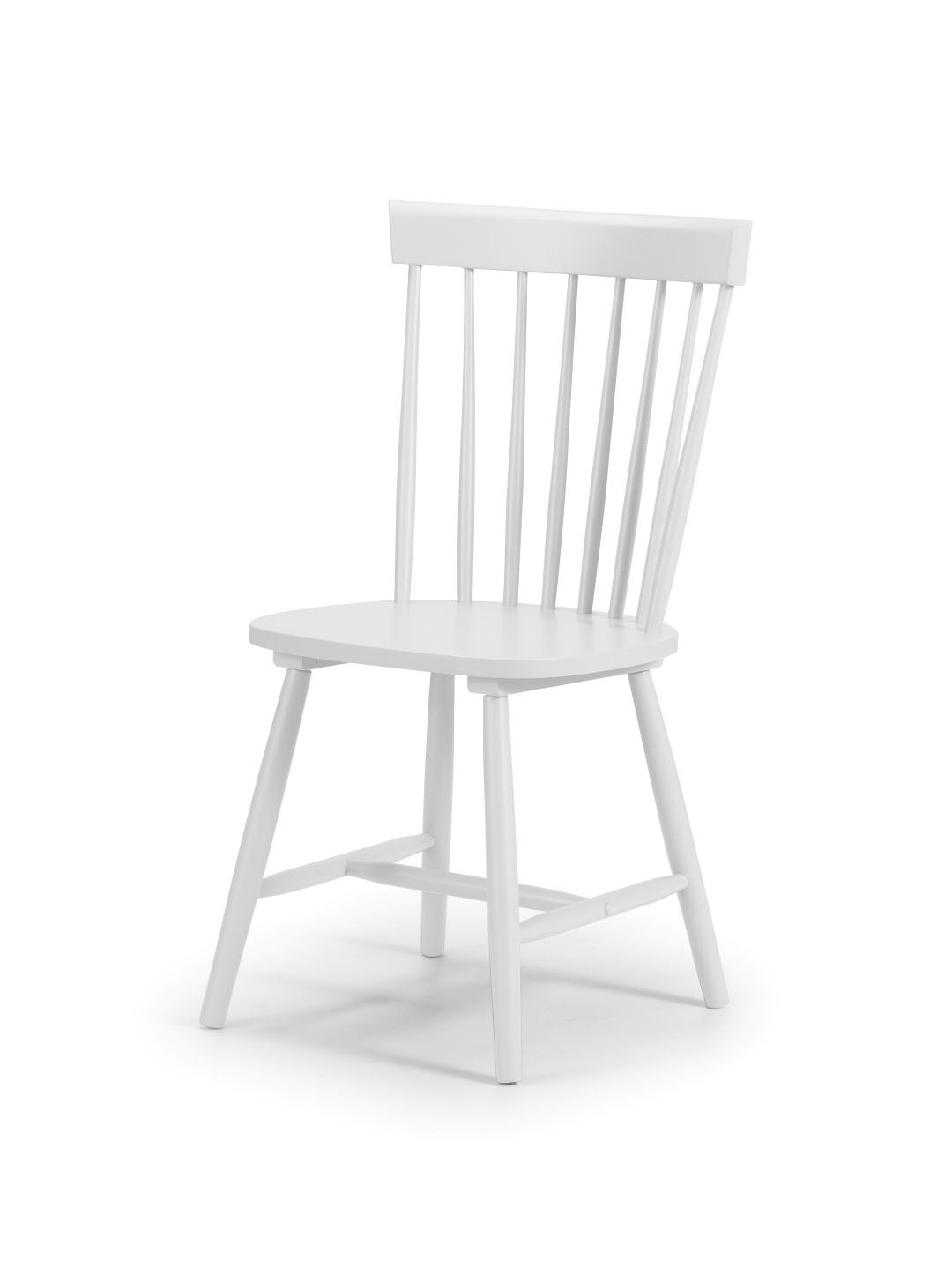 Julian Bowen Torino White Kitchen Dining Chair x 4 Solid Wood Traditional Style