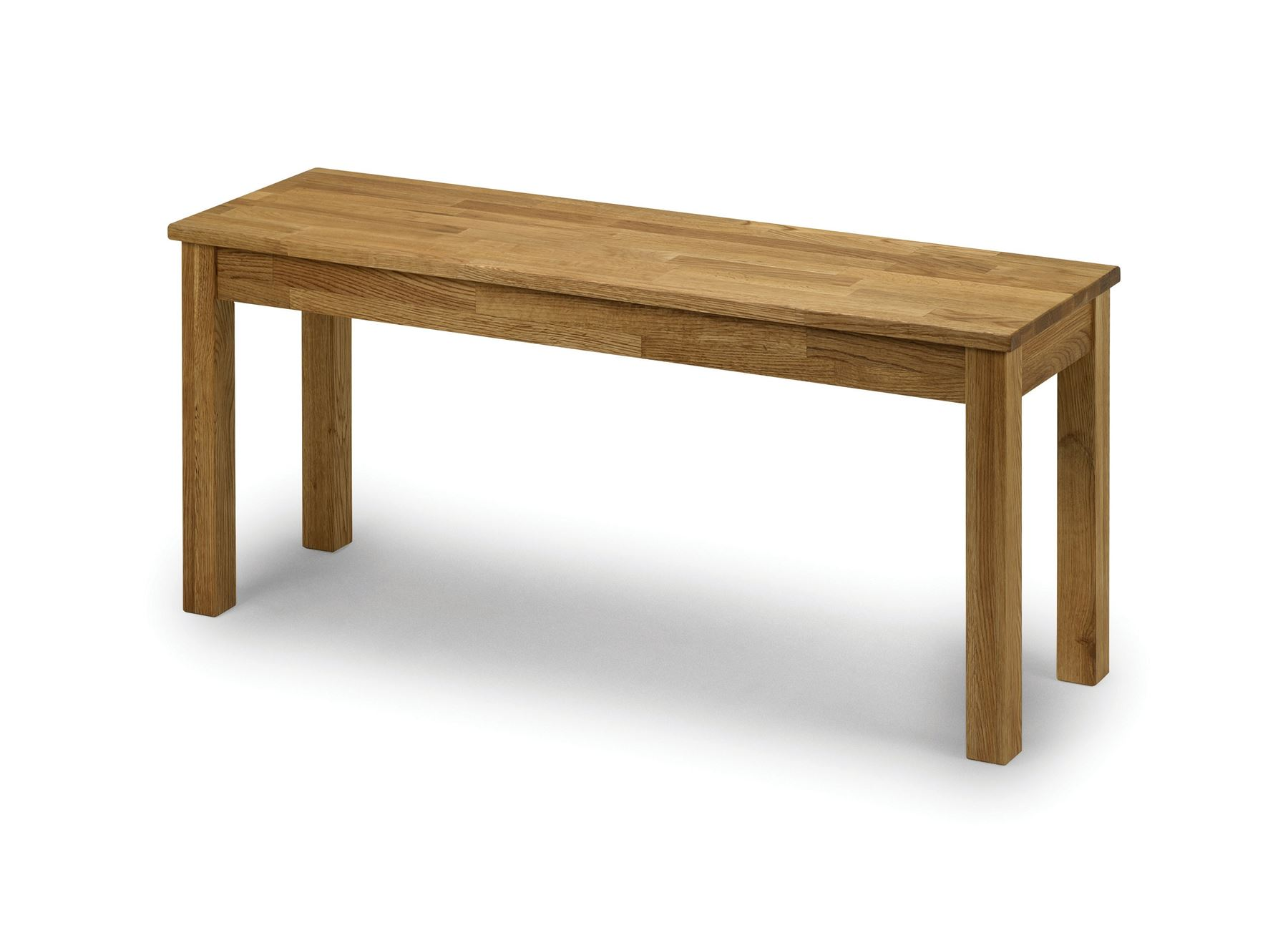 Julian Bowen Coxmoor Solid Wood American White Oiled Oak Dining Table Bench Only