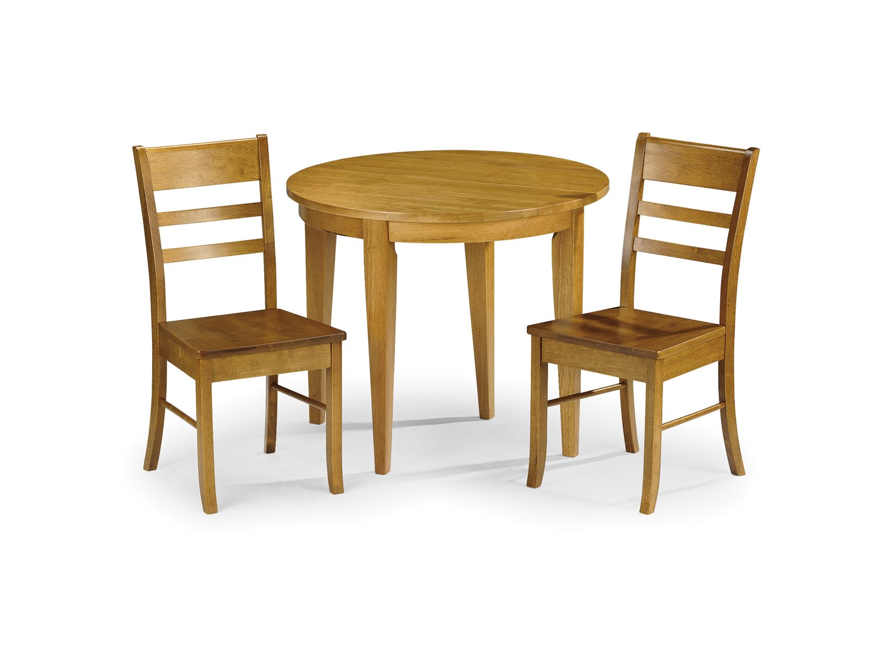 Julian Bowen Consort Pine Finish Kitchen Dining Table Solid Wood & 2 Chairs