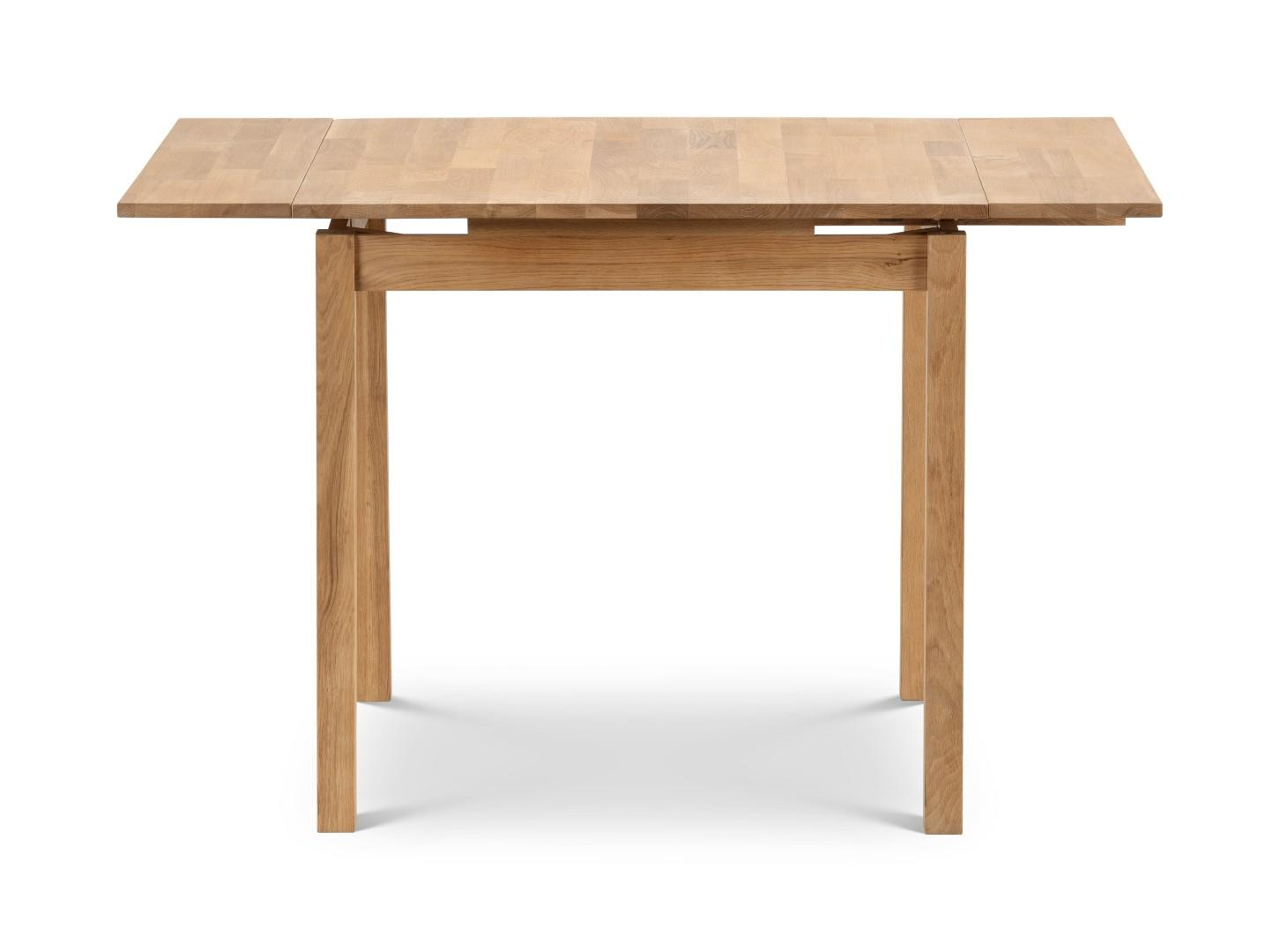 Julain Bowen Coxmoor Solid Oak Square Extending Dining Kitchen Table Draw Leaf