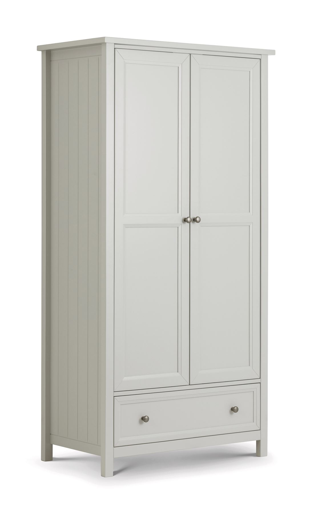 Julian Bowen Maine New England 2 Door Combination Wardrobe Painted Dove Grey