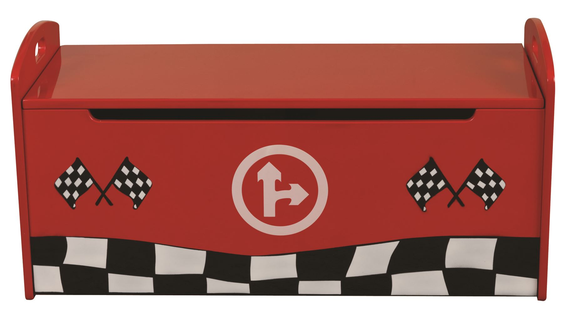 Sweet Dreams Formula Car Toy Box Ottoman Children Bedroom in Red