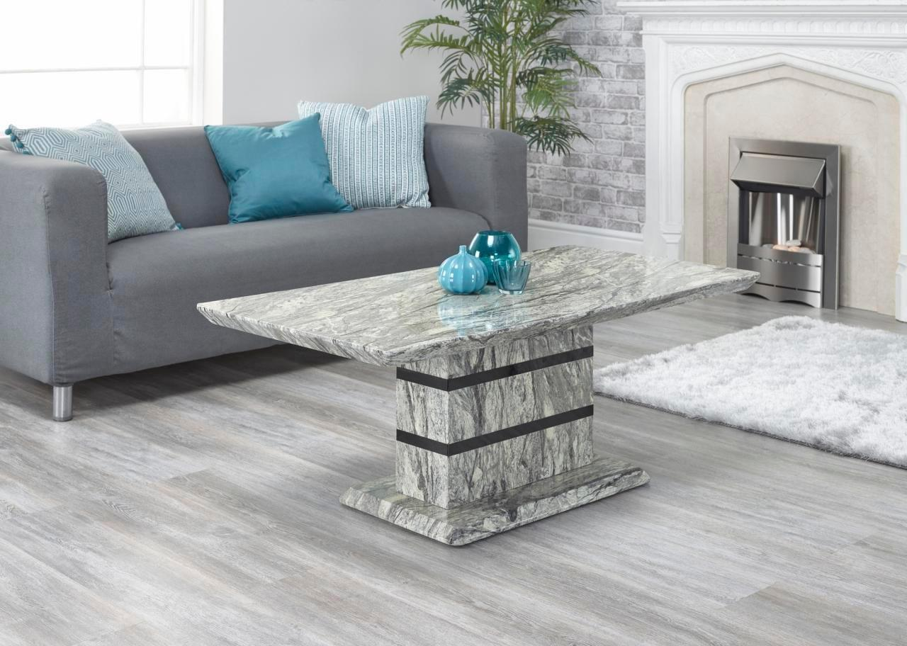IFC Alicante Marble Style Modern Rectangular Coffee Table