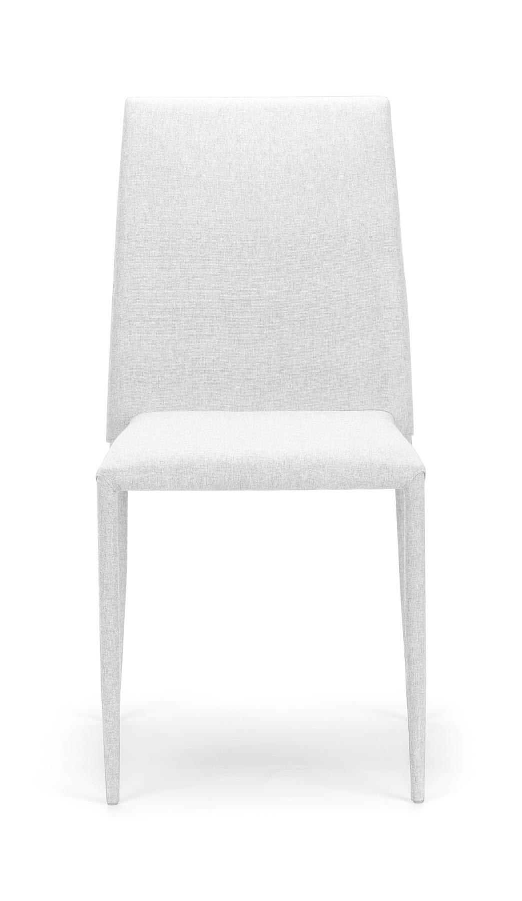 Julian Bowen Jazz White Kitchen Dining Chair PU & Steel Industrial Stacking