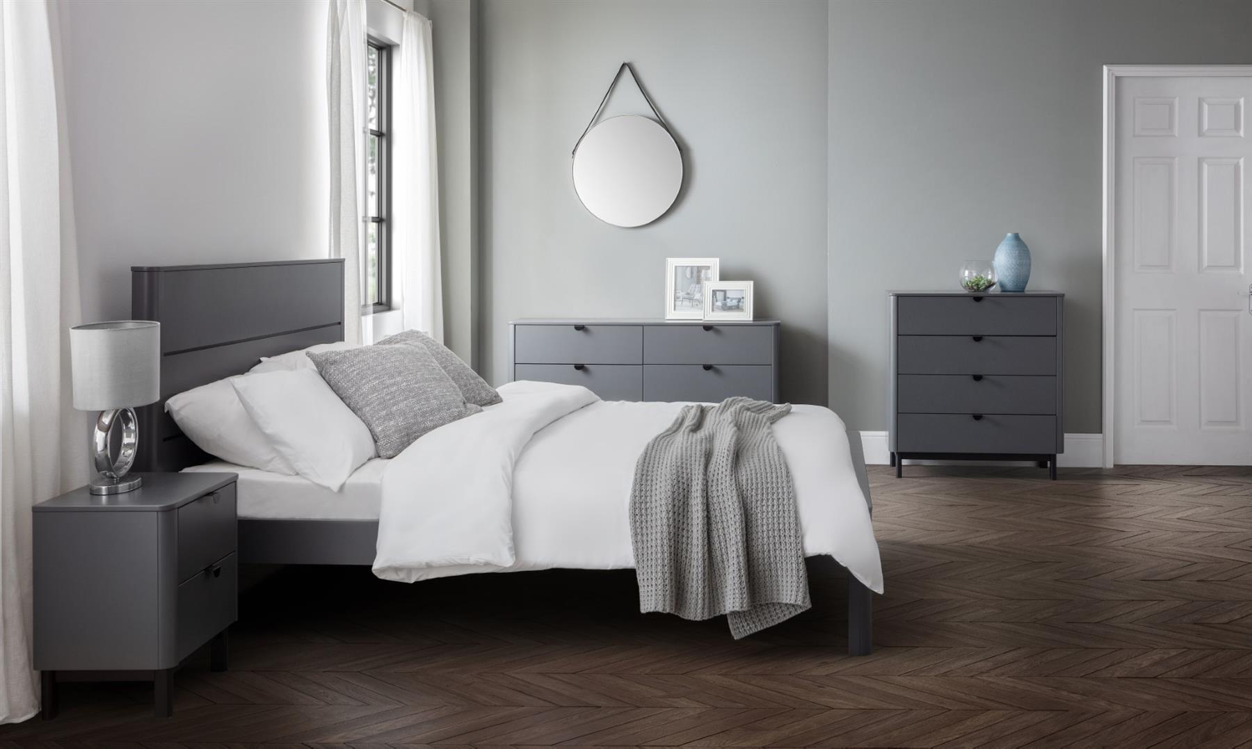 Julian Bowen Chloe Modern Grey Wood 5ft Kingsize Bed Frame 150cm Bedstead Www Robinsons Furniture