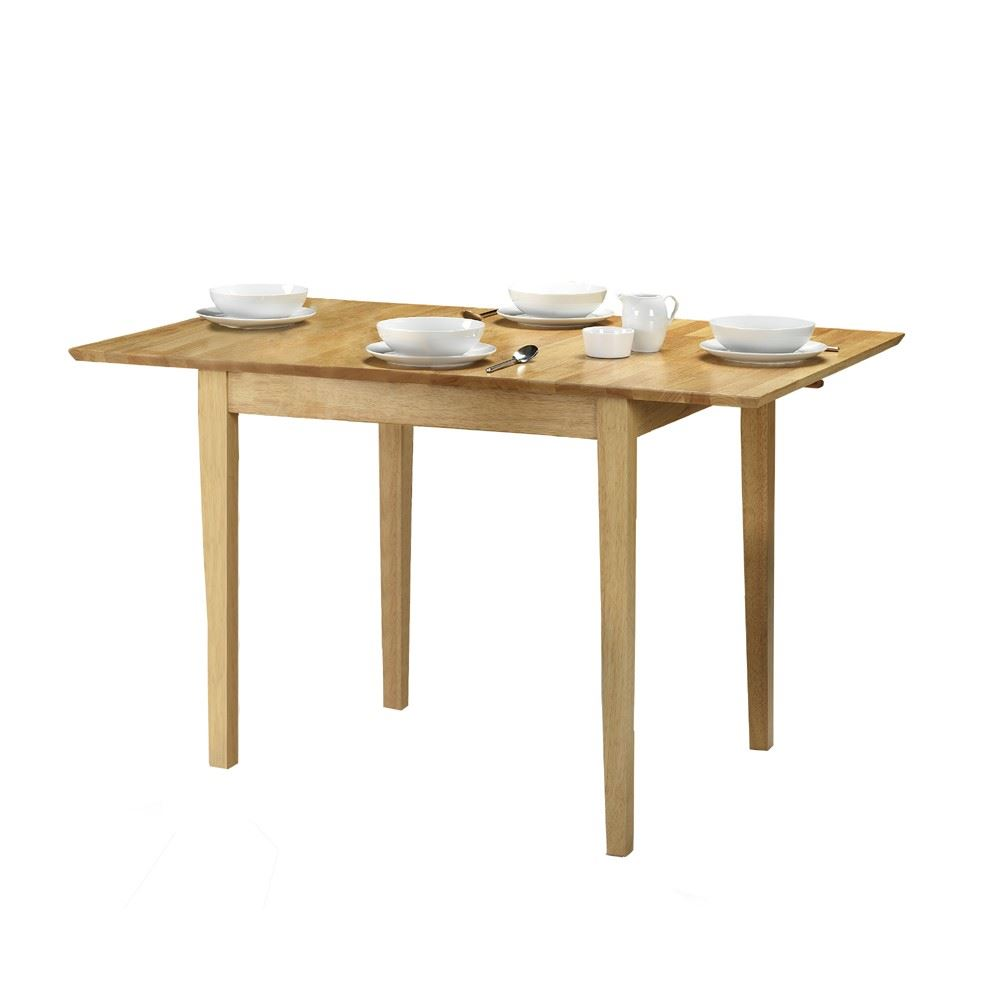 Julian Bowen Rufford Square Dining Butterfly Extending Solid Wood Table