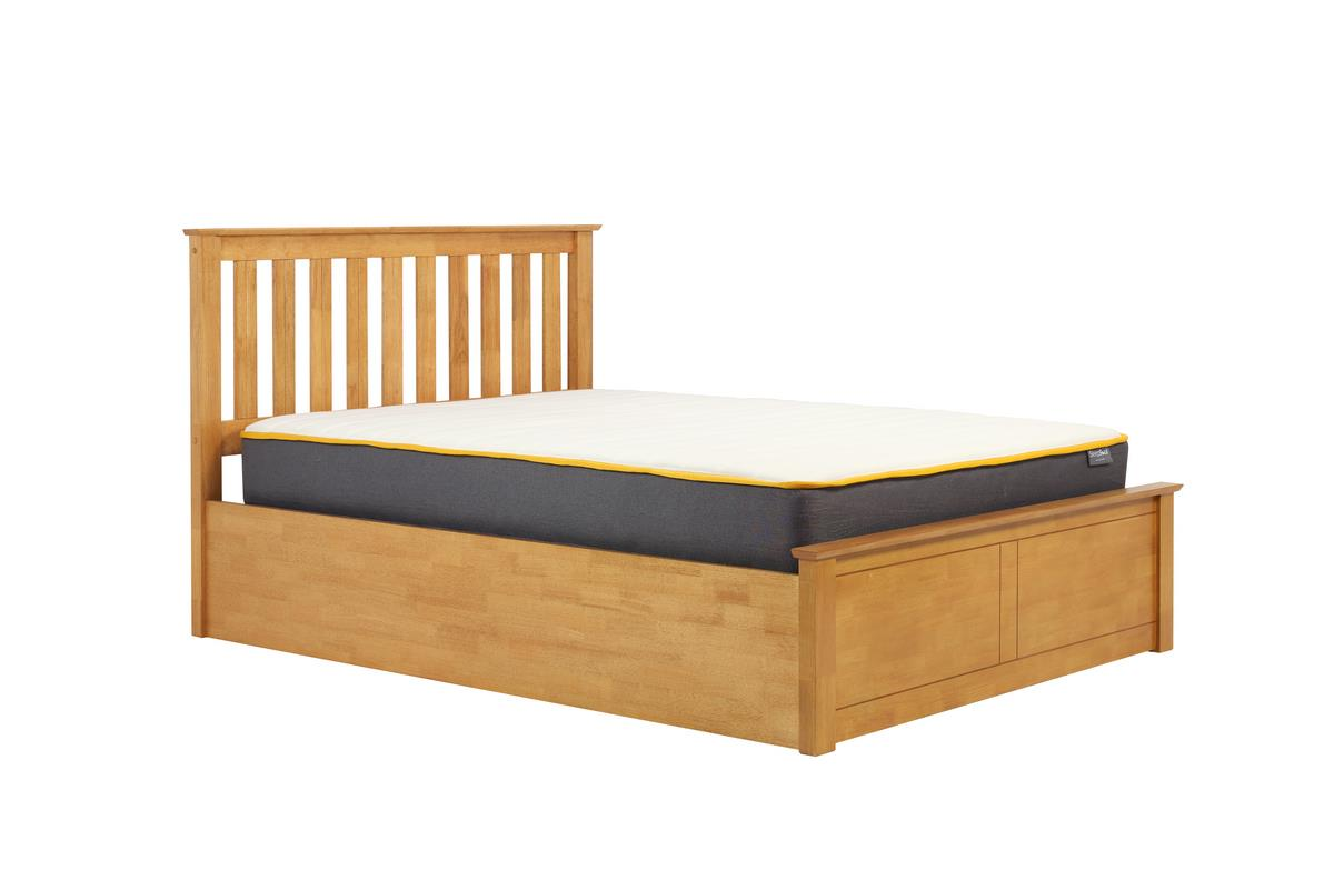 Phoenix Wood King Size Gas Lift 5FT 150cm Oak Ottoman Storage Bed Frame Solid