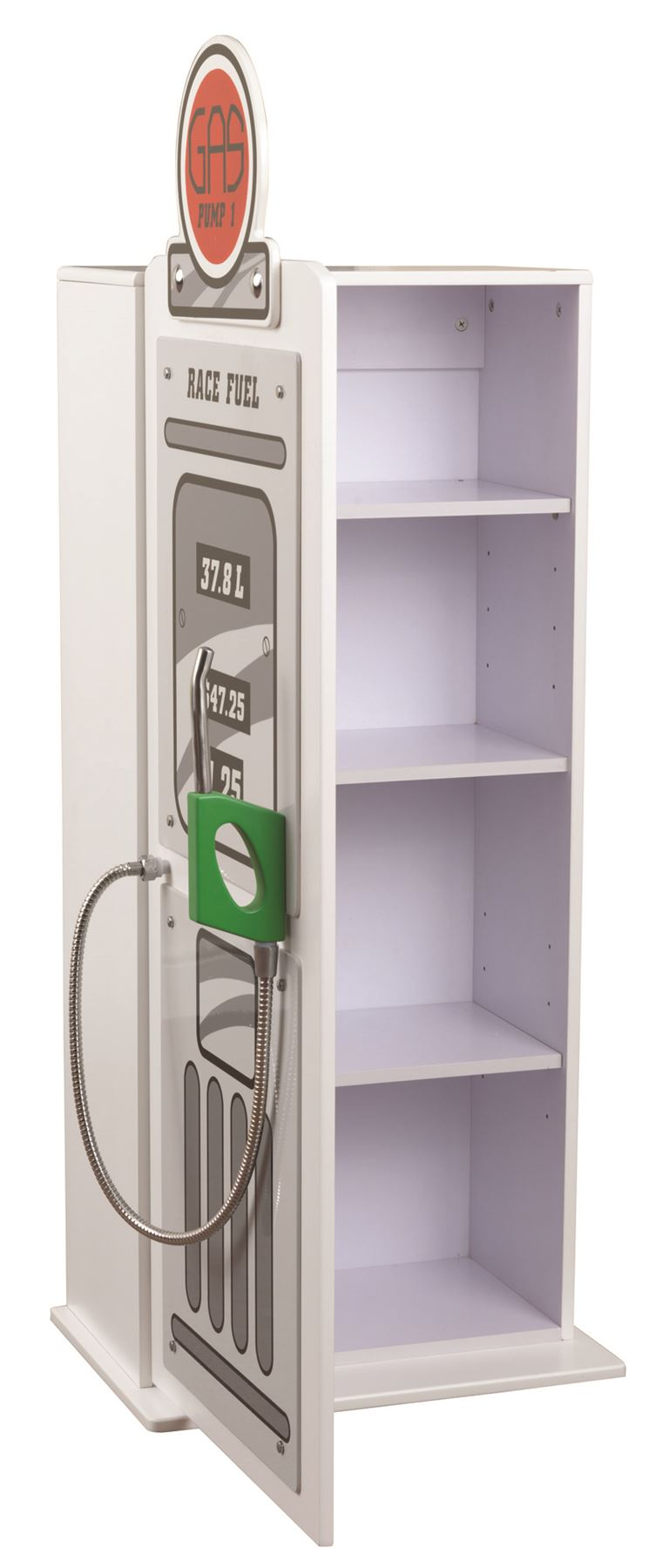 White Sonic Sweet Dreams Racing Car Bed Petrol Pump Wardrobe Cupboard