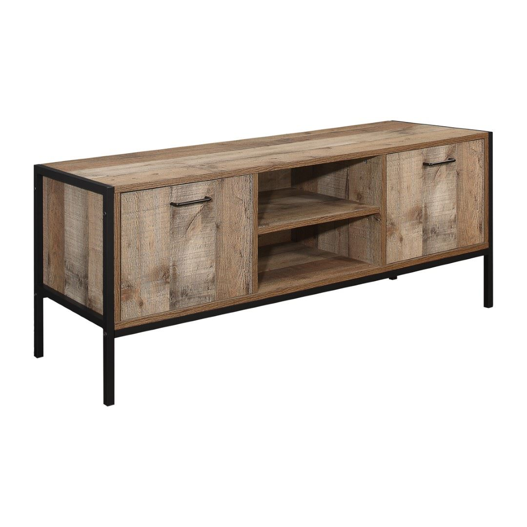 Birlea Urban TV Entertainment Unit Sideboard Widescreen Wood Metal