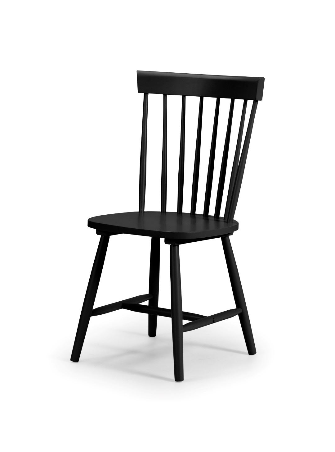 Julian Bowen Torino Black Kitchen Dining Chair x 1 Solid Wood Traditional Style