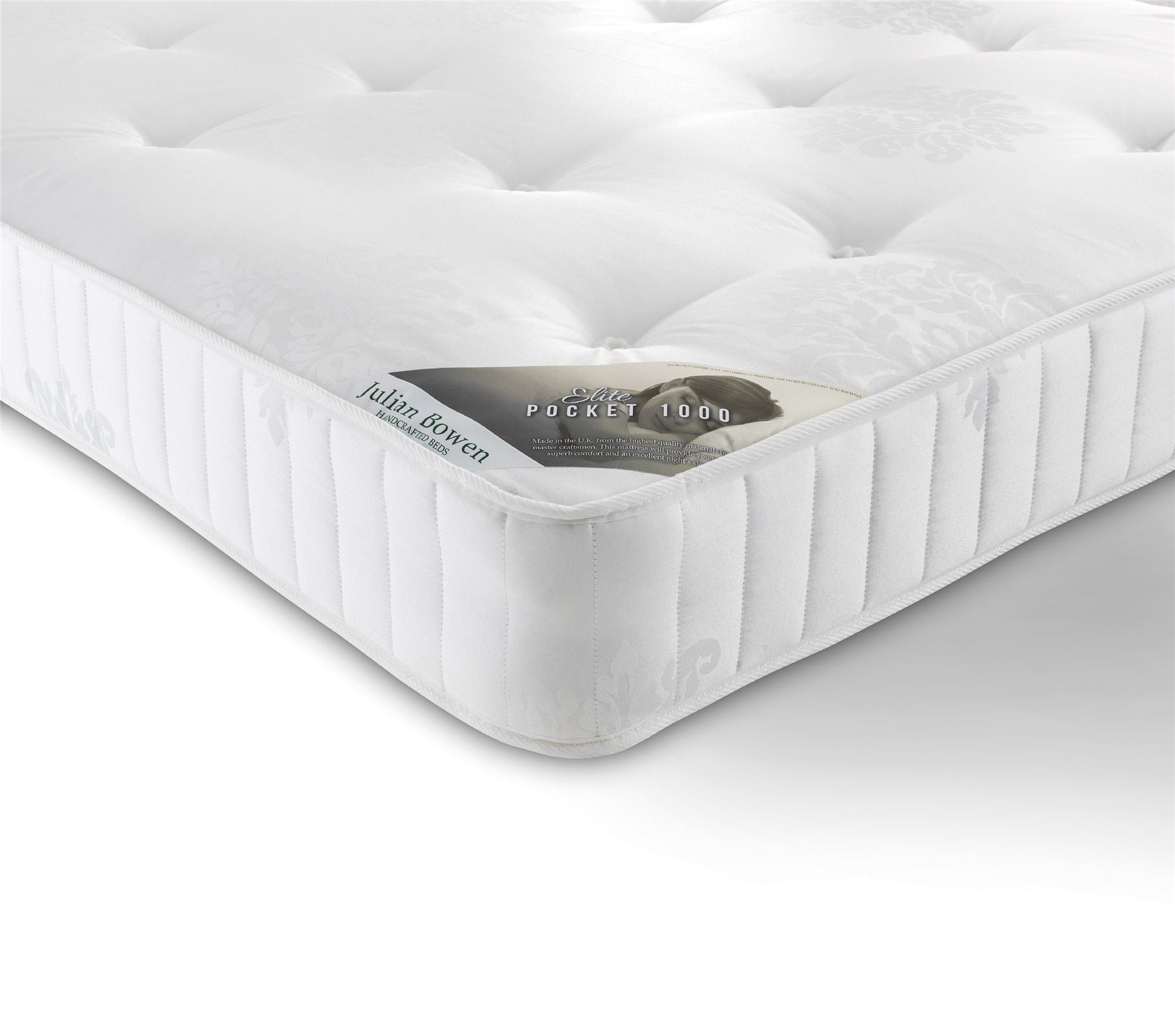 Julian Bowen Elite Pocket Sprung Quilted Air Vent Mattress 150cm King Size 5FT