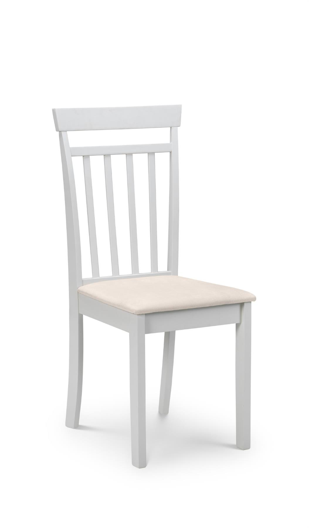 Julian Bowen Coast Pebble Grey Wooden Kitchen Dining Chair Wood Solid