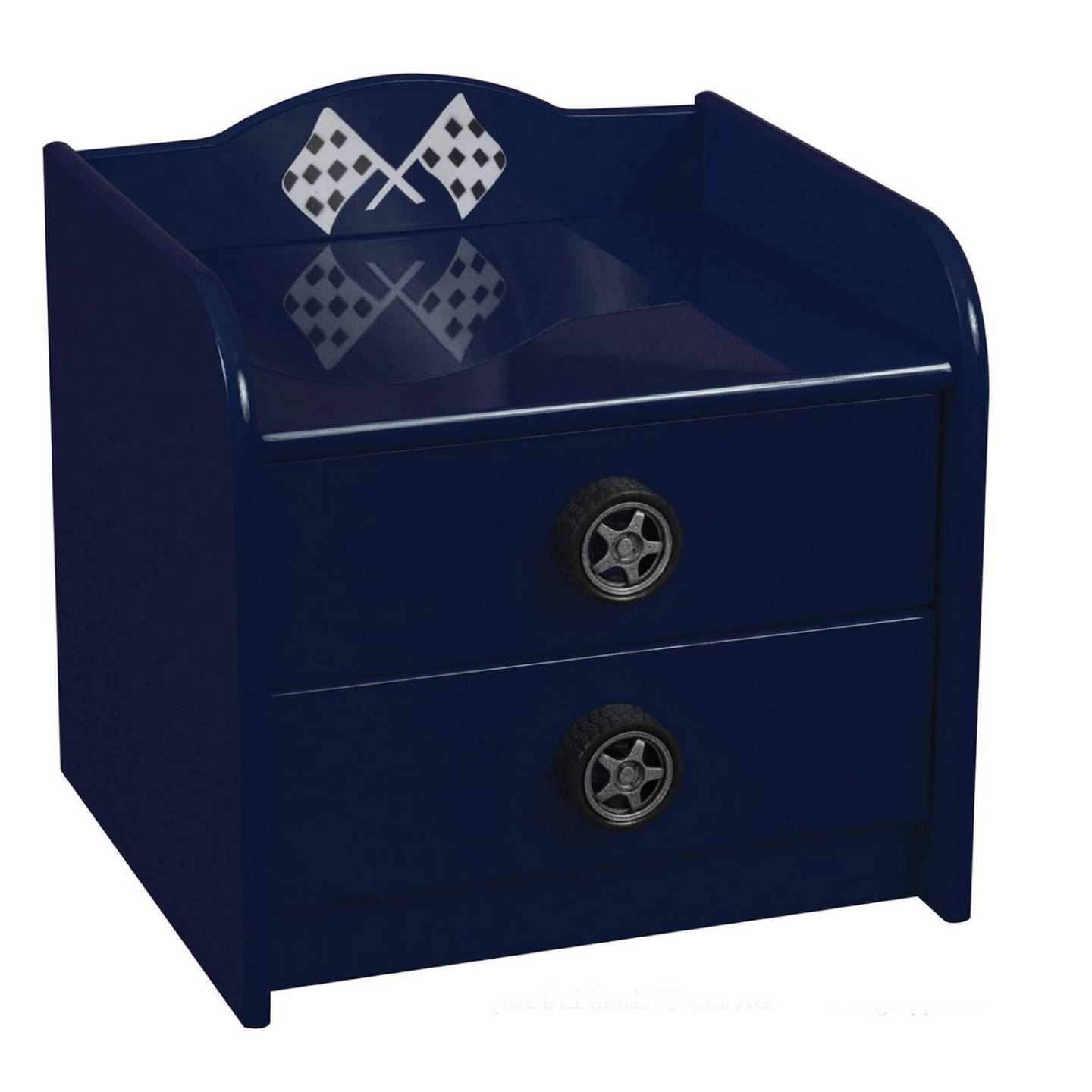 Sweet Dreams Formula Car Bedside Table Cabinet Children Bedroom Blue