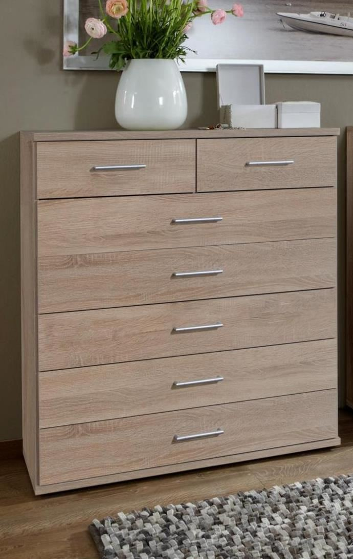 German Oskar Davos 5+2 Large Chest of Drawers in Oak