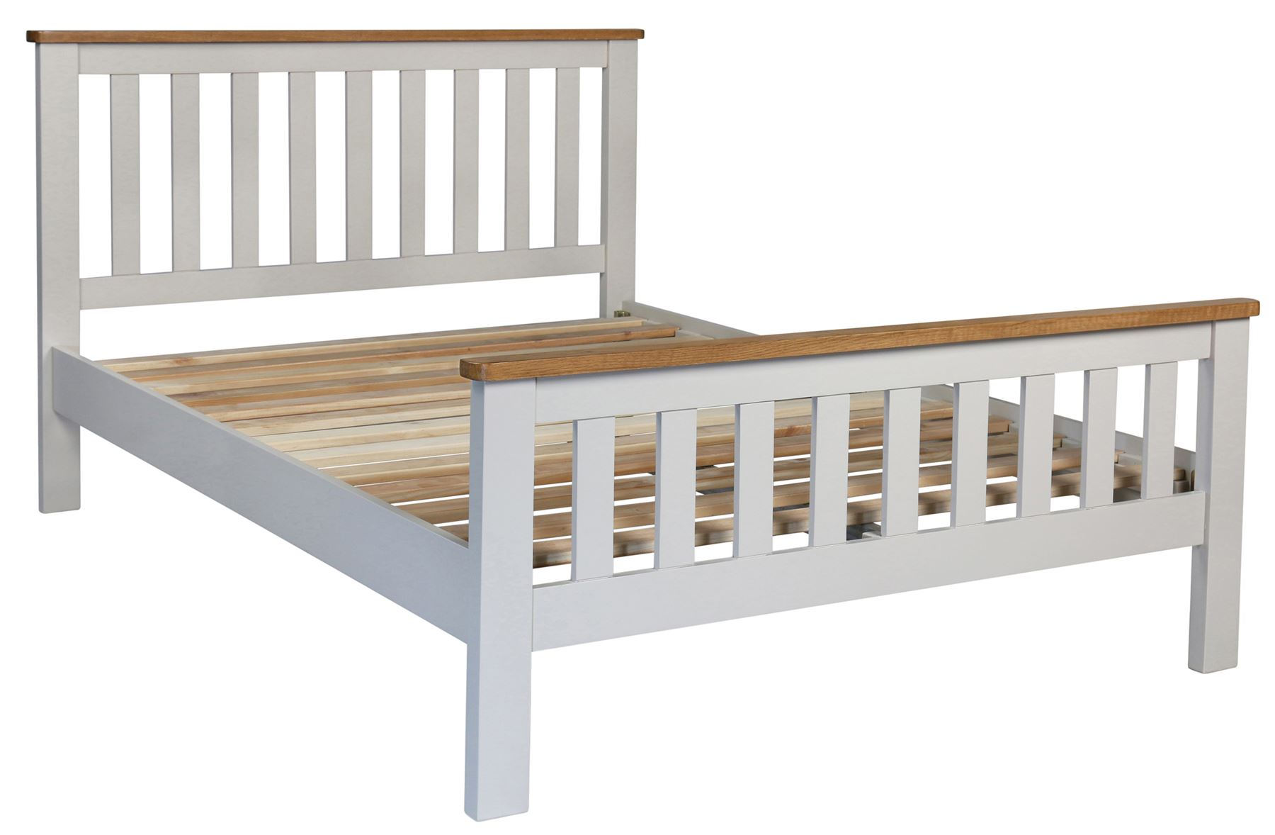 Sweet Dreams Cooper Classic King Size 150cm 5FT Oak & Grey Solid Wood Bed Frame