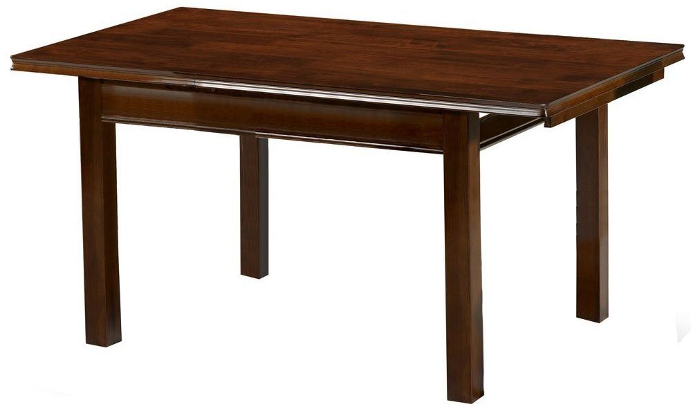 Julian Bowen Canterbury Solid Wood Mahogany Finish Extending Dining Table Only