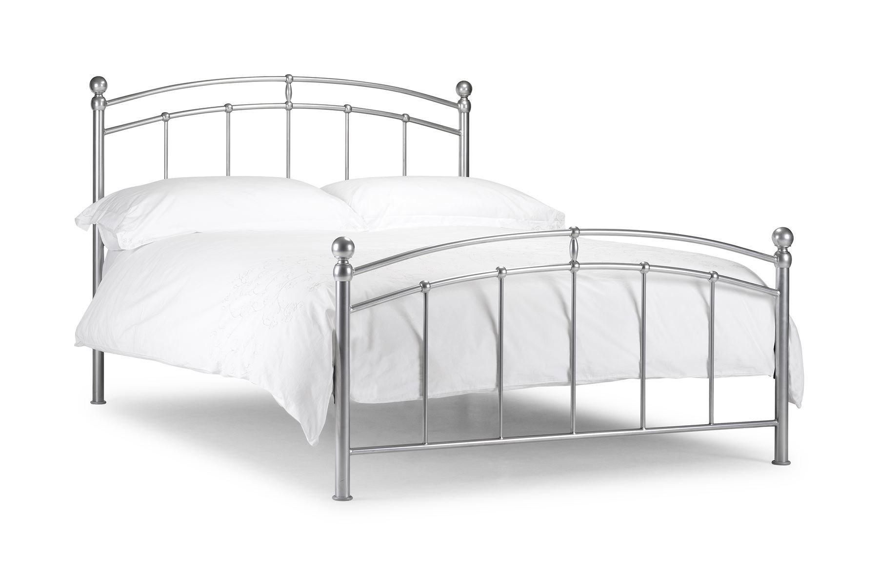 Julian Bowen Double 135CM 4FT6 4'6'' Chatsworth Aluminium Metal Bedstead Bed