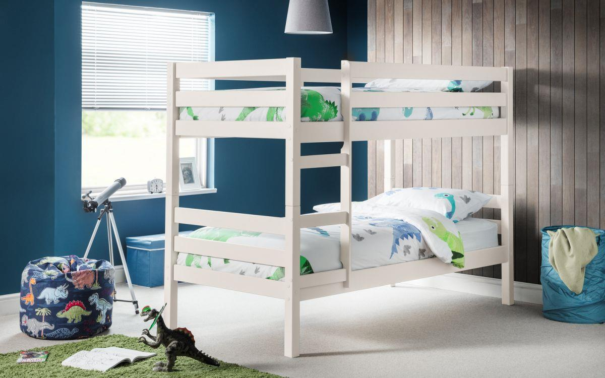 Julian Bowen Camden Bunk Bed Surf White 3FT 90cm Single Bunks