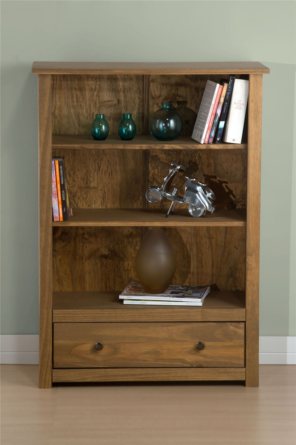 Birlea Santiago Drawer Bookcase Corona Mexican Pine Solid Wood Furniture Waxed