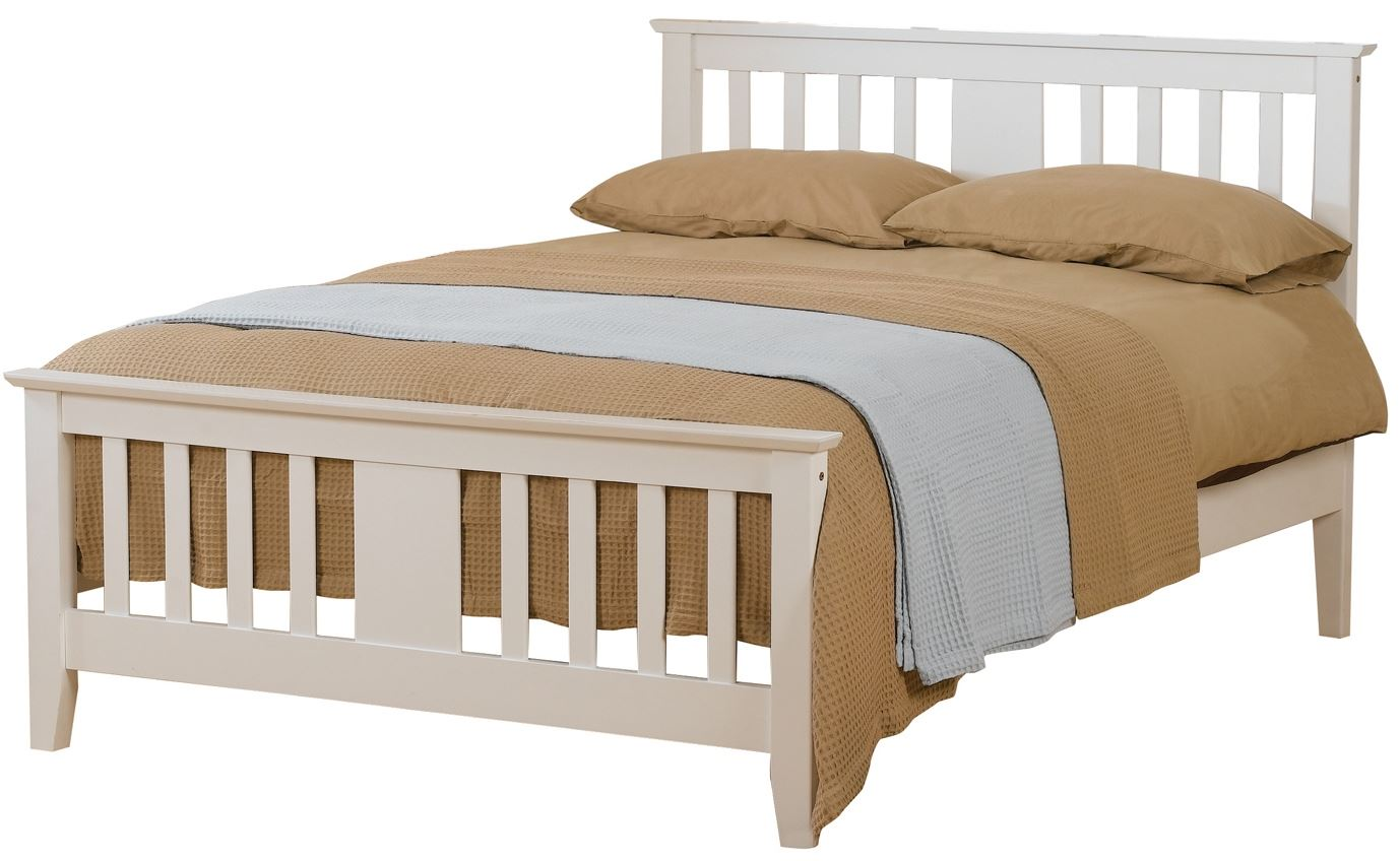 Sweet Dreams Kestrel White Shaker style 150cm kingsize bed 5FT Solid Wood
