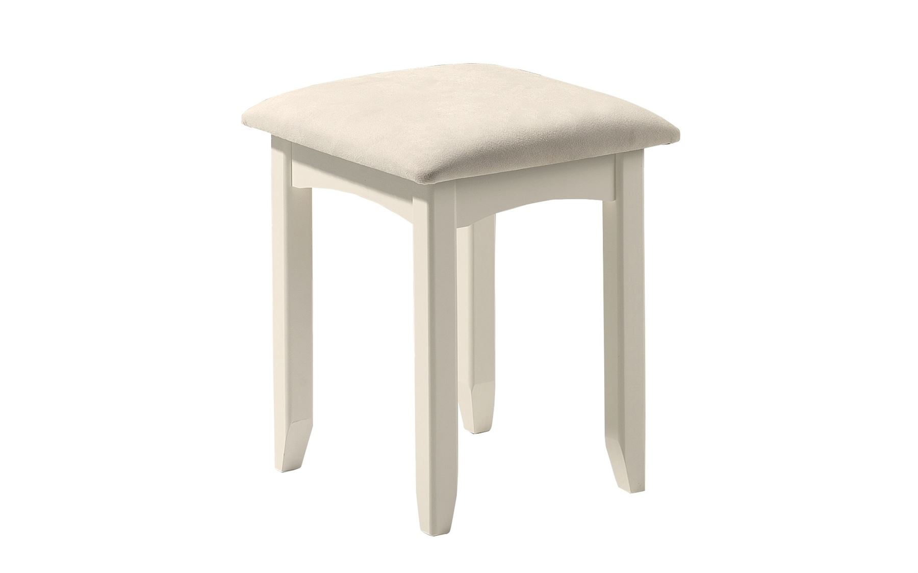 Julian Bowen Cameo Stone White Wood Dressing Table Stool