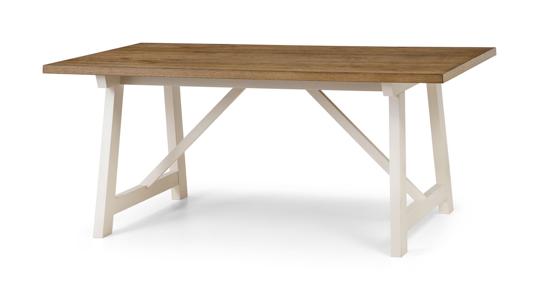 Julian Bowen Pembroke Large Dining Table Only Ivory & Welsh Oak