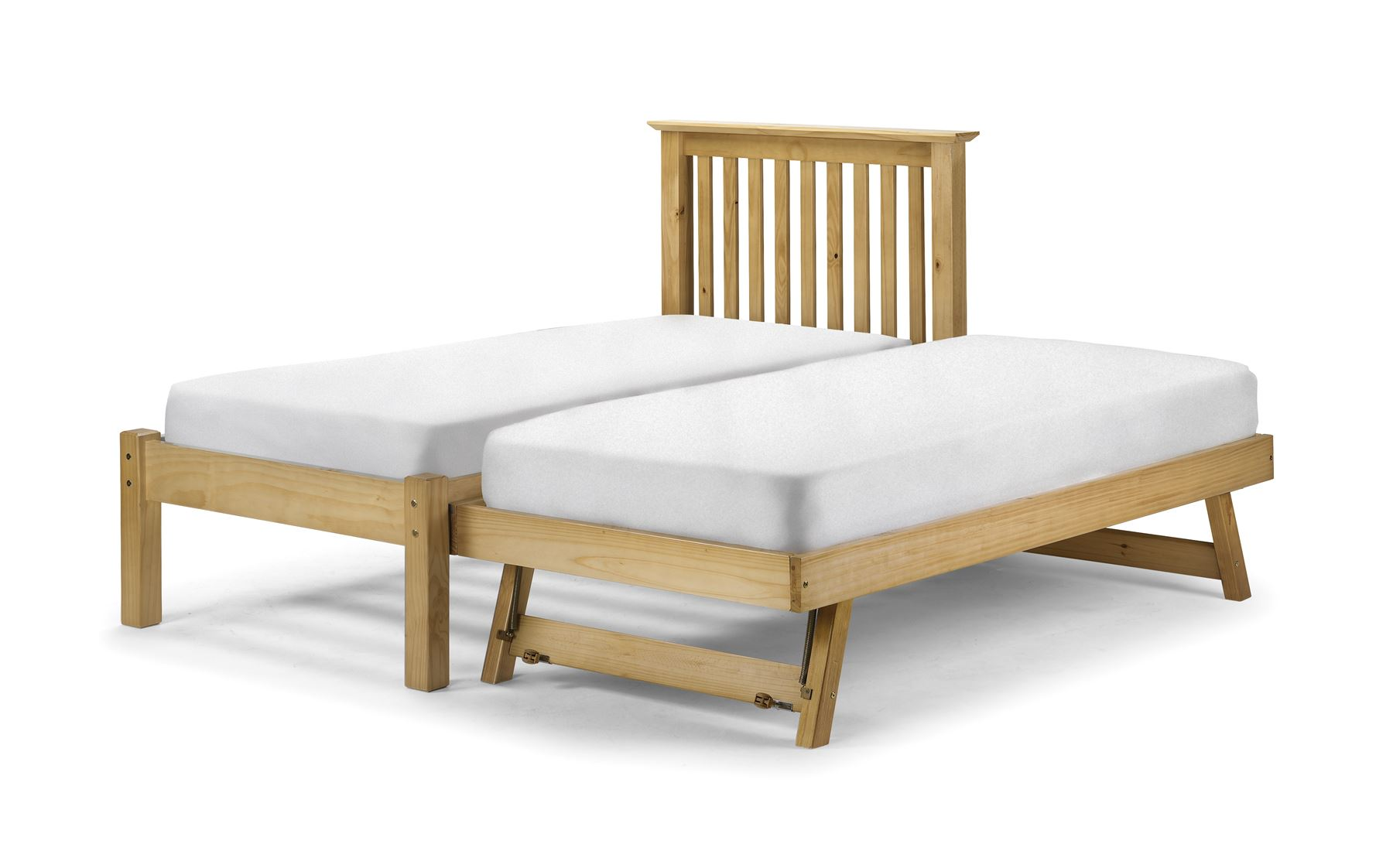 Julian Bowen Barcelona Hideaway Single Guest Bed trundle Stop Over Antique Pine