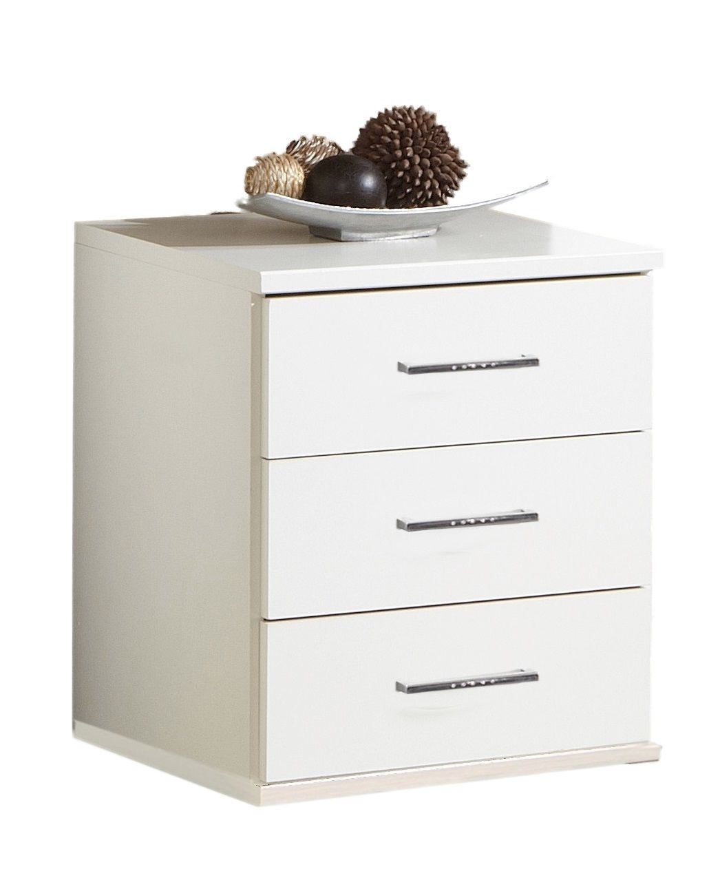 Bijoux German 3 Drawers narrow bedside chest White Crystal Rhinestone Bling